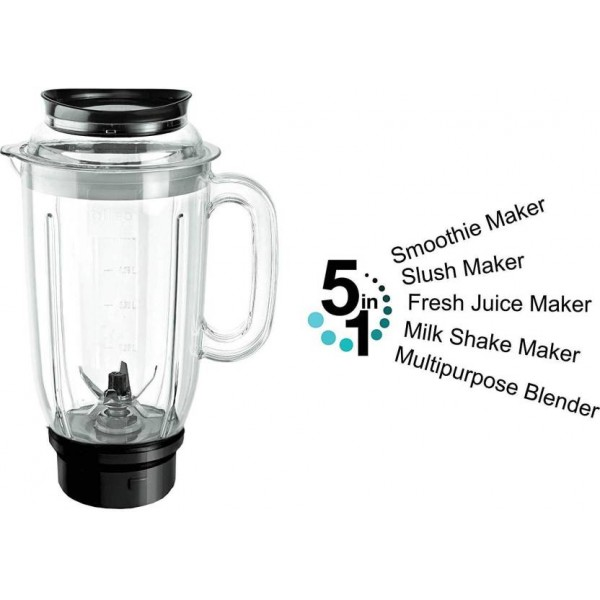 Cello ELITE + MIXER GRINDER WITH 4 JAR 500 Mixer Grinder  (White, Blue, 4 Jars)