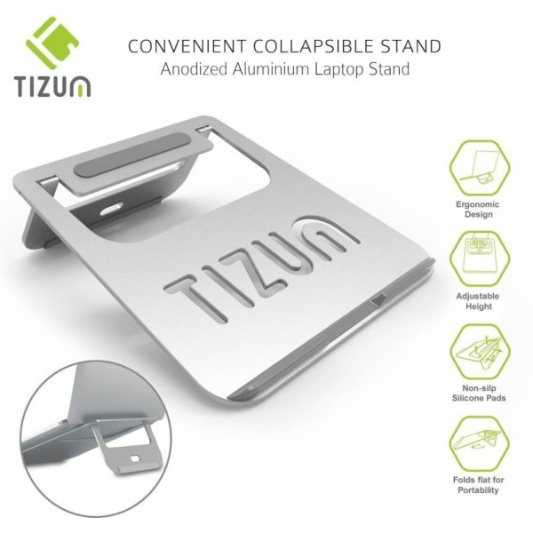 TIZUM Metal Portable Laptop Table  (Finish Color - Silver)