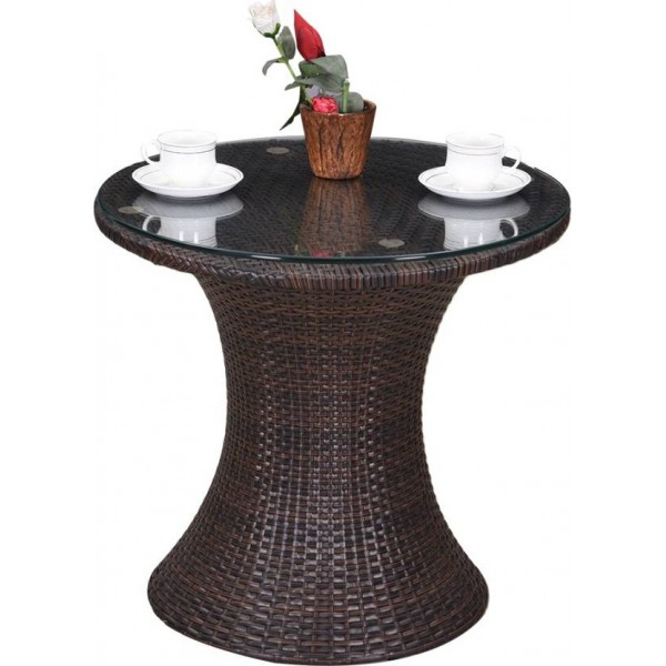 RoyalOak Amigo Natural Fiber Outdoor Table  (Finish Color - Brown)