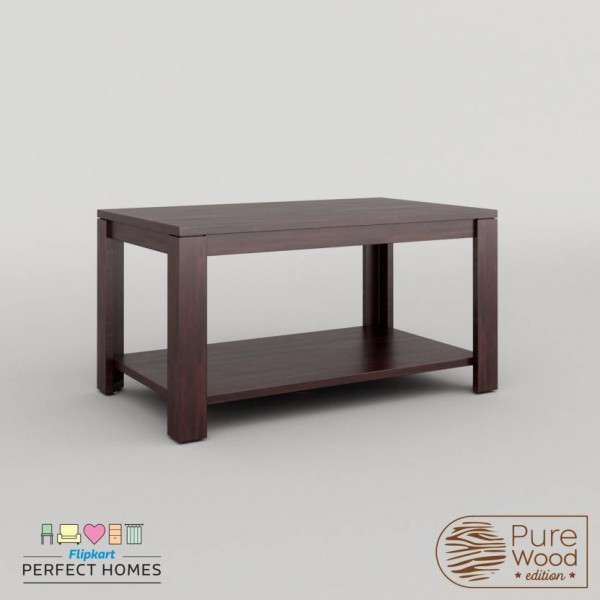 Perfect Homes PureWood Mango Coffee Table  (Finish Color - Walnut)