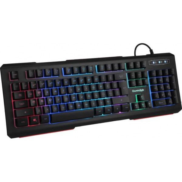 Cosmic Byte CB-GK-02 Corona Wired 7 Color RGB backlit with Effects, Anti-Ghosting Wired USB Gaming Keyboard  (Black)