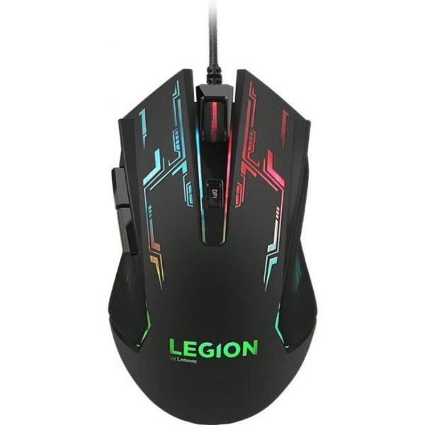 Lenovo Legion M200 Wired Optical Gaming Mouse  (USB, Black)