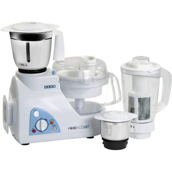 Usha FP 2663 600 W Food Processor  (White)