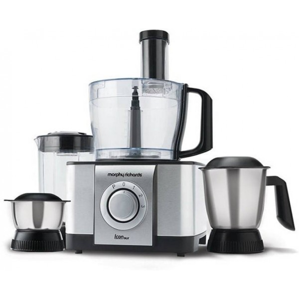 Morphy Richards Icon Dlx 1000 W Food Processor  (SS Brushed Finish Colour)