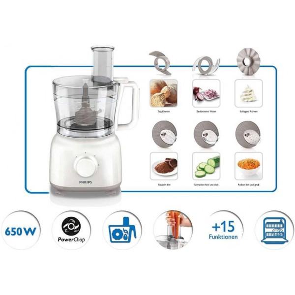 Philips HR7627/00 650 Mini Food Processor 650 W Food Processor  (White)