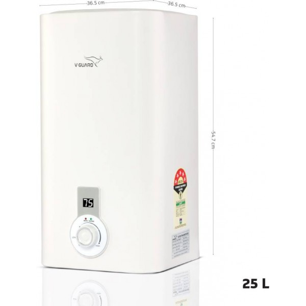 V-Guard 25 L Storage Water Geyser  (White, Victo Plus 25)
