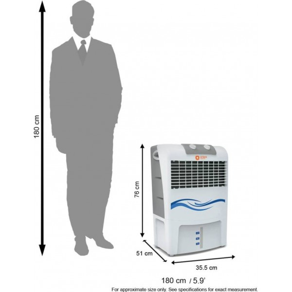 Orient Electric CP2003H Personal Air Cooler  (White, 20 Litres)