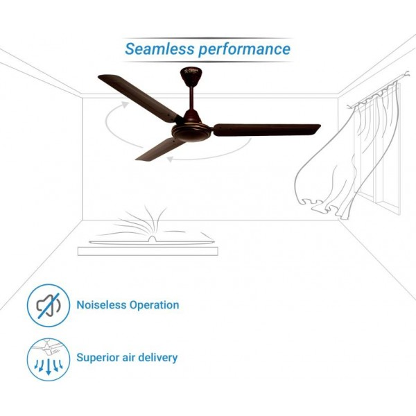 SmartBuy Classic Ceiling Fan  (Brown, Pack of 1)