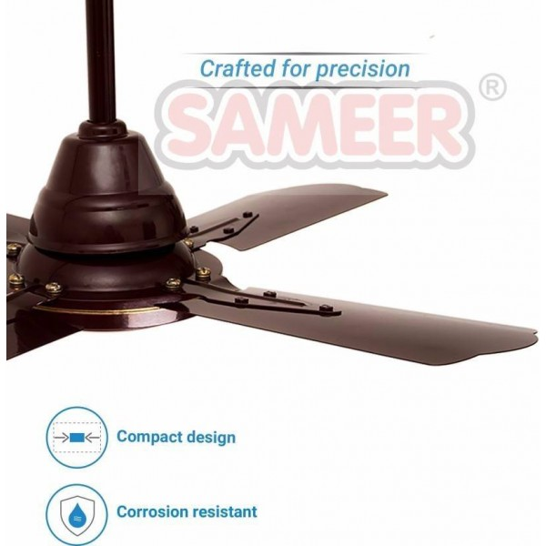 Sameer Gati 24 4 Blade Ceiling Fan  (Brown, Pack of 1)