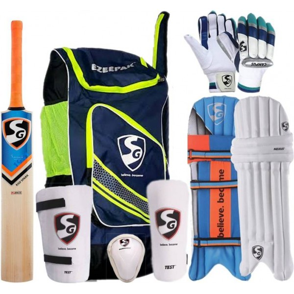 SG Full Cricket Kit with Ezeepak Bag, Size 6 (Ideal for 11 to 13 Years) Cricket Kit