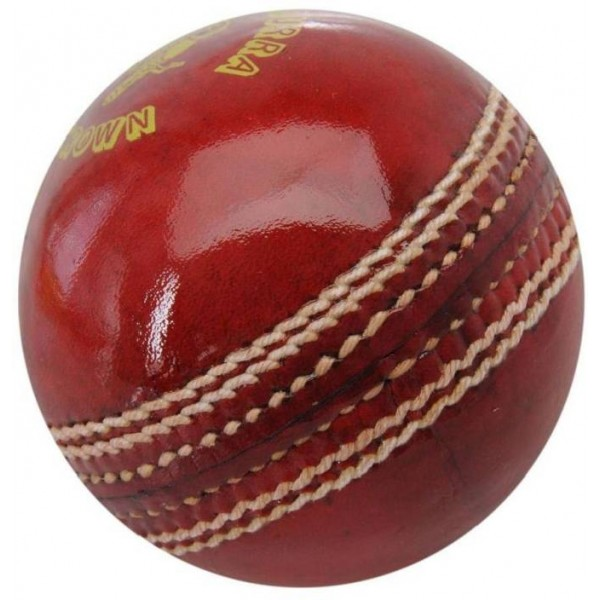 Forever Online Shopping 1 Cricket Leather Ball  (Pack of 1, Red)