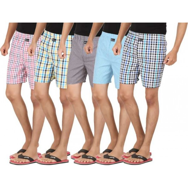 Joven  Checkered Men's Boxer  (Pack of 5)