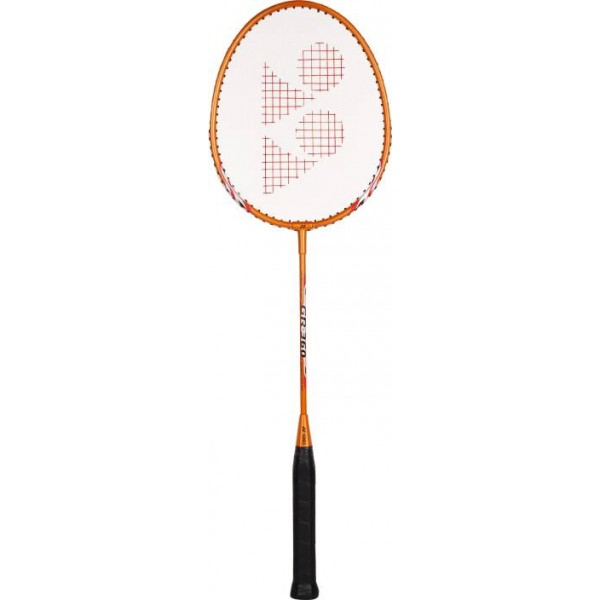 Yonex GR360 Orange Strung Badminton Racquet  (Weight - 90 g)