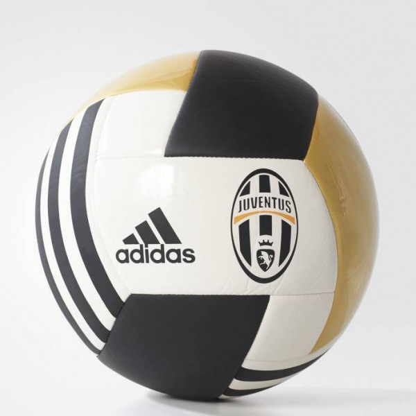 ADIDAS Juventus FBL Football - Size: 5  (Pack of 1, White, Black, Gold)