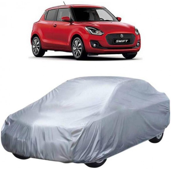 AutoKraftZ Car Cover For Maruti Suzuki Swift (Without Mirror Pockets)  (Silver, For 2018 Models)