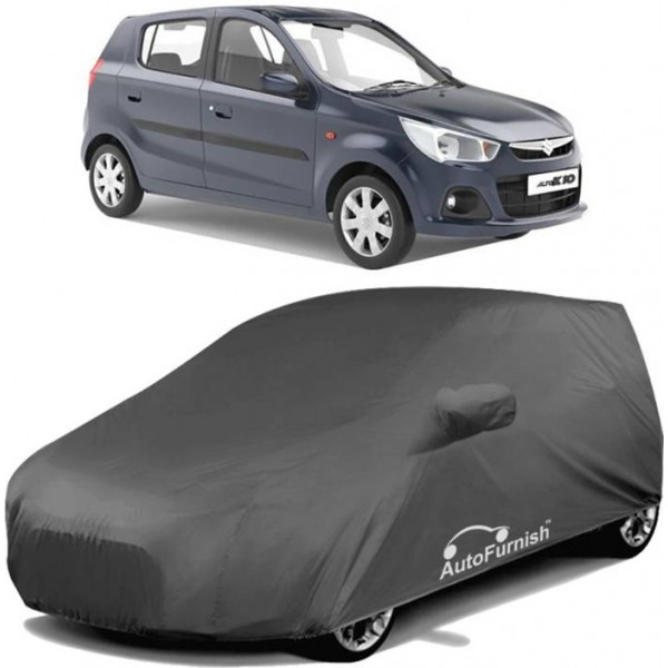 Autofurnish Car Cover For Maruti Suzuki Alto K10 (With Mirror Pockets)  (Grey)