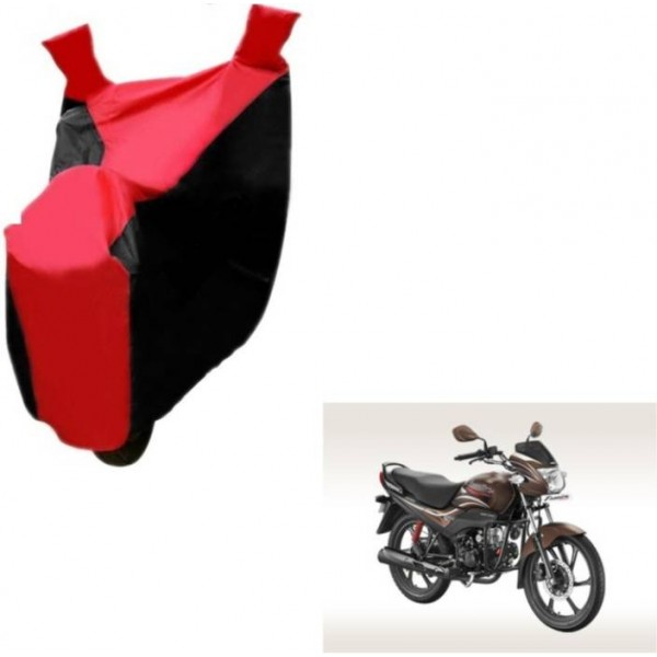 Mockhe Two Wheeler Cover for Hero  (Passion Pro, Black, Red)