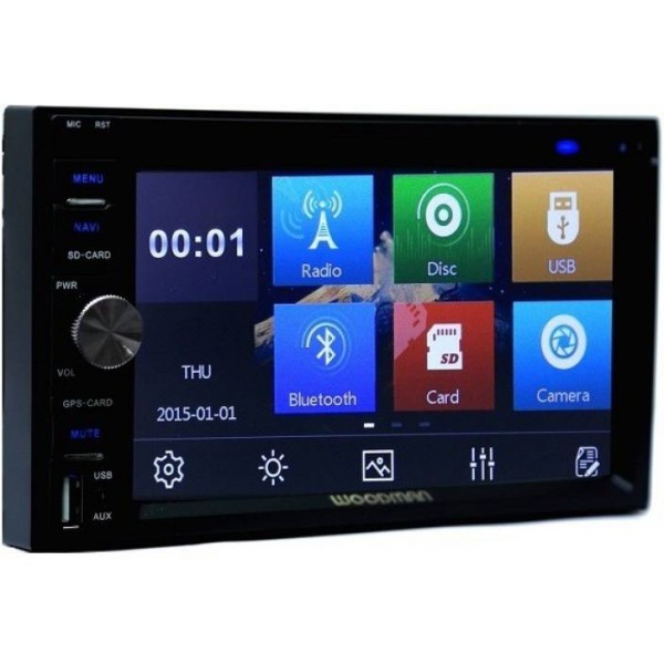 Woodman Double Din WM-8080 With DVD, Bluetooth, USB Car Stereo  (Double Din)