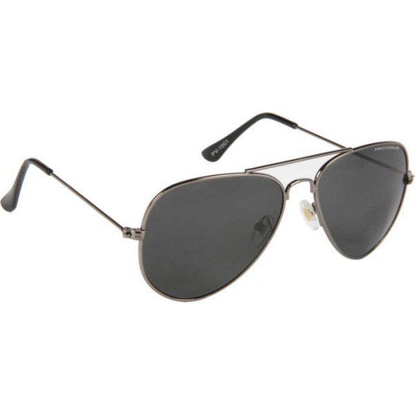 Provogue Aviator Sunglasses  (Black)
