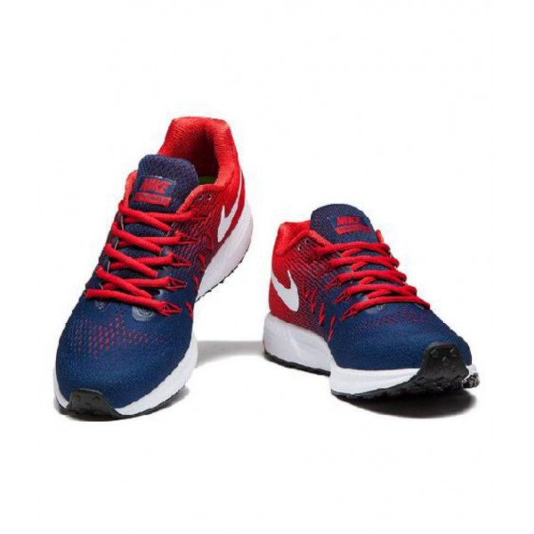 Nike 1 Pegasus 33 Navy Red Running Shoes