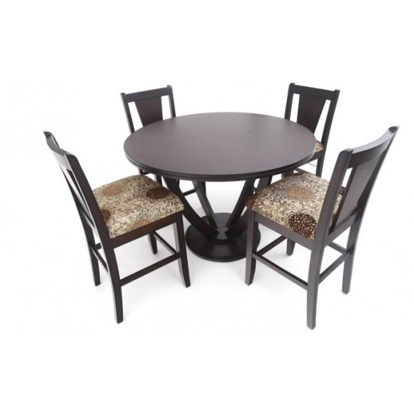 Furnicity Engineered Wood 4 Seater Dining Set  (Finish Color - Brown)