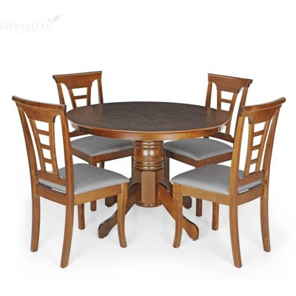 Berlynoak Cherry Engineered Wood 4 Seater Dining Set  (Finish Color - Cappuccino)