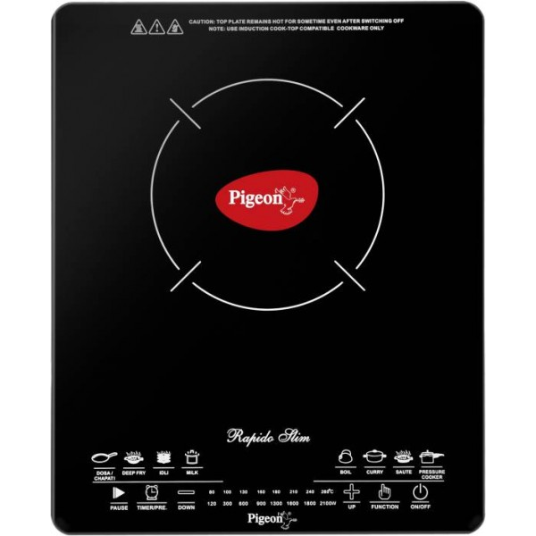 Pigeon Rapido Slim Induction Cooktop  (Black, Touch Panel)