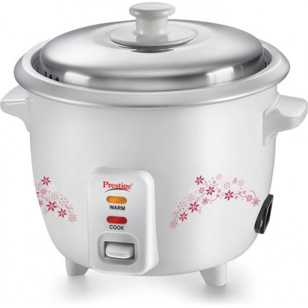 Prestige Delight PRWO - 1.0 Electric Rice Cooker  (1 L, White)