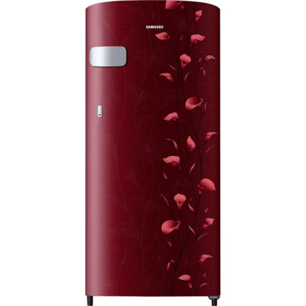Samsung 192 L Direct Cool Single Door 2 Star Refrigerator  (Tender Lily Red, RR19N1Y12RZ/HL)