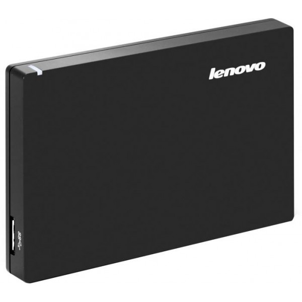 Lenovo Slim 1 TB Wired External Hard Disk Drive  (Black)