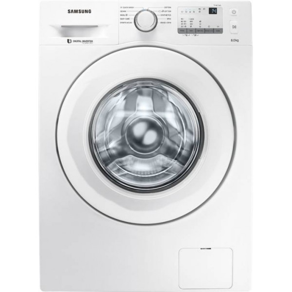 Samsung 8 kg Fully Automatic Front Load Washing Machine White  (WW80J3237KW/TL)