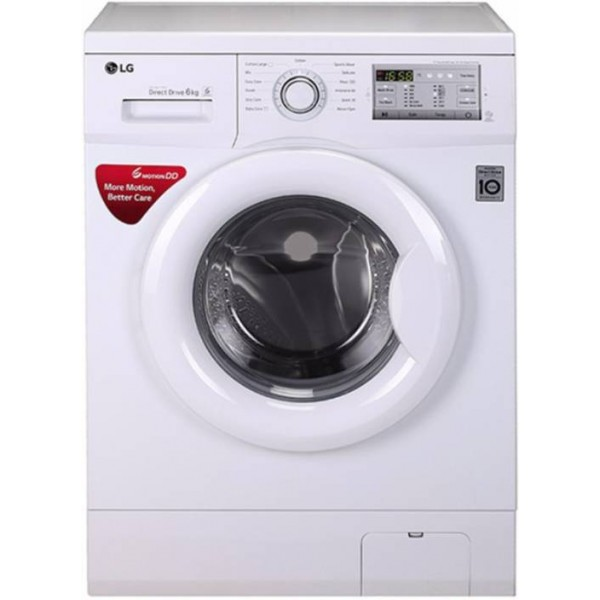LG 6 kg Fully Automatic Front Load Washing Machine White  (FH0H3NDNL02)