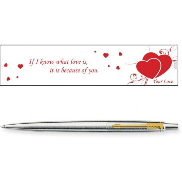 Parker Jotter Valentine Edition Stainless Steel GT Ball Pen