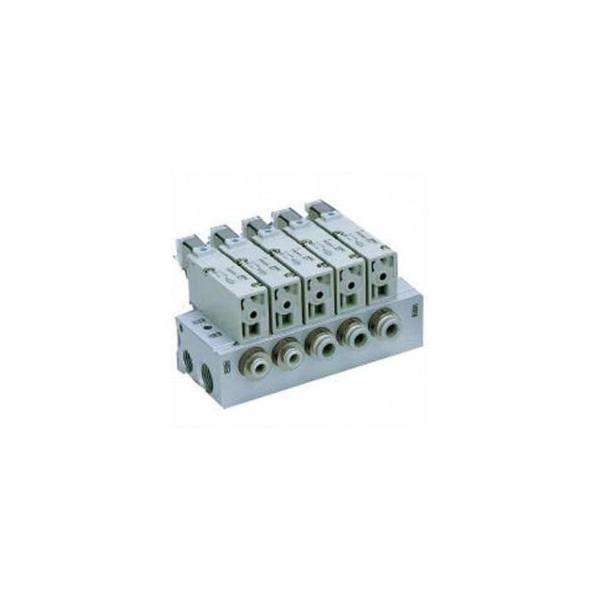 "SMC 1/4"" 168LPM Solenoid Valve with Manifold-VV3QZ-X1R479"