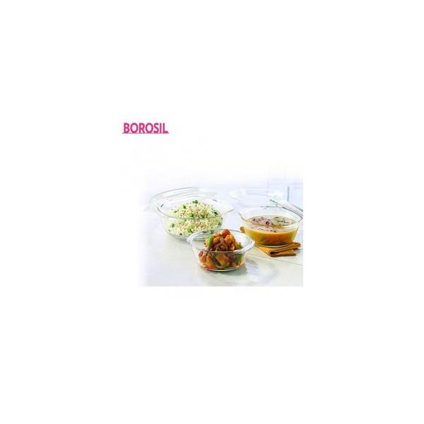 Borosil 0.7+1.0+1.5 Ltr Set Of 3 Round Casserole-IY22CAS3715