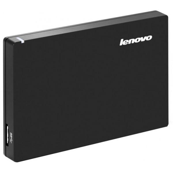 Lenovo Slim 1 TB Wired External Hard Disk Drive  (Black)