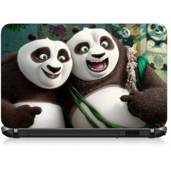 VI Collections DAD AND BOY PANDA PRINTED VINYL Laptop Decal 15.6