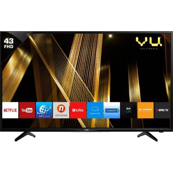 Vu 109cm (43 inch) Full HD LED Smart TV  (43D6575)