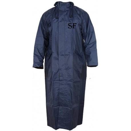 SHAKUMBHARI FAB Men's Rain Coat (Rainwear Waterproof) Jacket Long Sleeves Raincoat (Black & Blue)