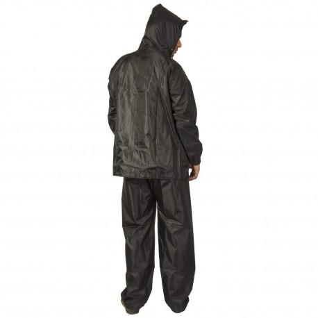 BENJOY Men's PVC Hooded Raincoat Top and Bottom Set (Salacious-blk, Black, Free Size)