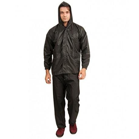 BENJOY Storm Breaker Complete Rain Suit with Carry Bag Raincoat (Black)