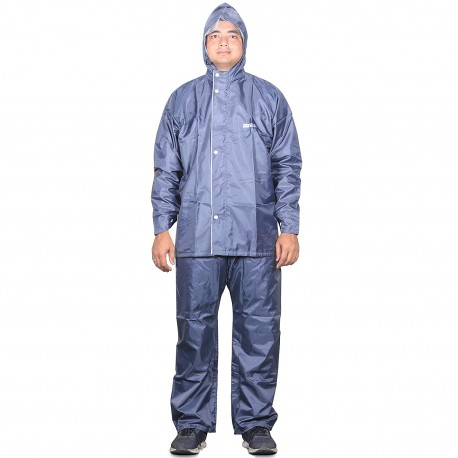 THE CLOWNFISH Sky One Opener Reversible Men's Polyester Double Layer Waterproof Raincoat with Hood