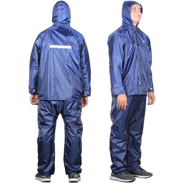THE CLOWNFISH Sky One Magic Series Reversible Men's Polyester Double Layer Waterproof Raincoat with Hood and Reflector