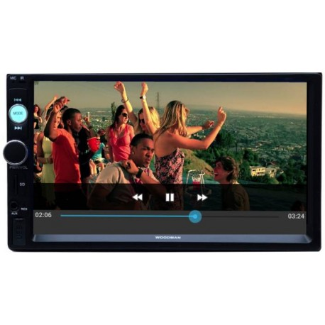 Woodman Doubledin With Bluetooth & Usb ( Full Hd) Car Stereo  (Double Din)