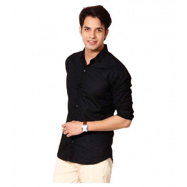 Tarkshyam Trendz Black Casual Slim Fit Shirt