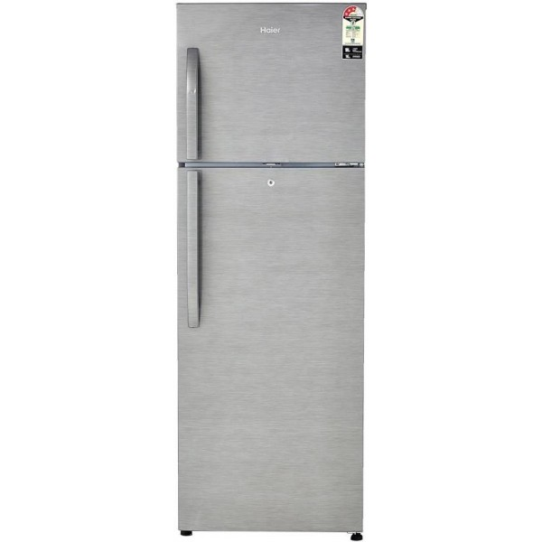 Haier 310 L Frost Free Double Door 3 Star Refrigerator  (Brushline Silver, HRF-3304BS-R/E)