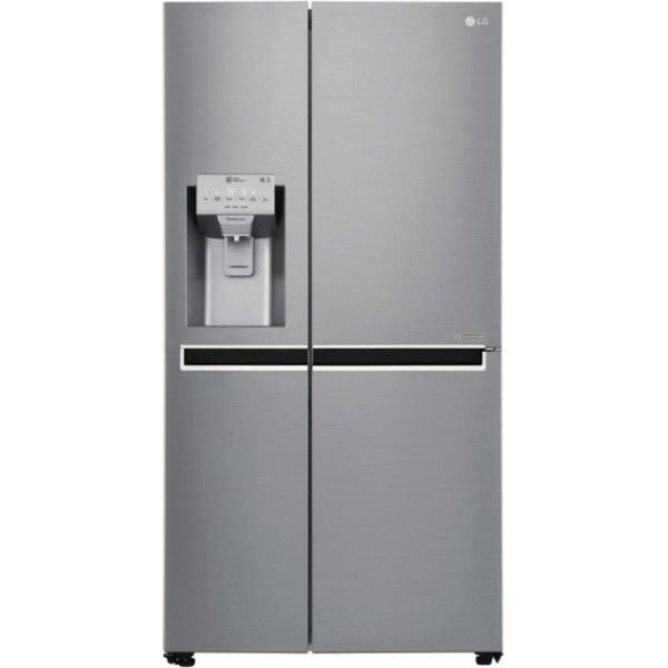 LG 668 L Frost Free Side by Side Inverter Technology Star Refrigerator  (Shiny Steel, GC-L247CLAV)