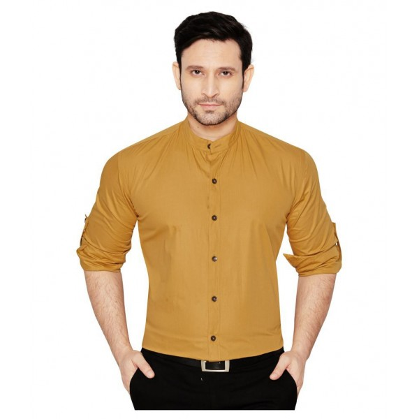 Globalrang Beige Casual Regular Fit Shirt