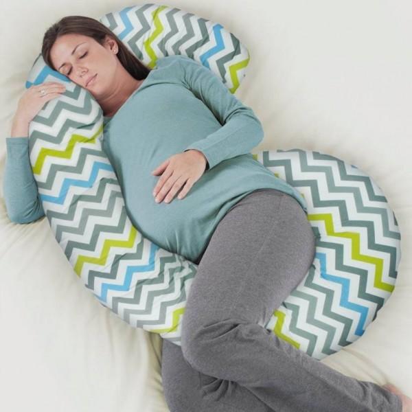 Rabitat Zig Zag Pregnancy Pillow Pack of 1  (Multicolor)