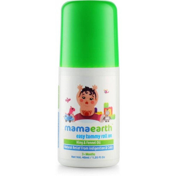 Mamaearth Easy Tummy Roll On for Digestion and Colic Relief, Hing and Fennel, 40 ml  (40 g)